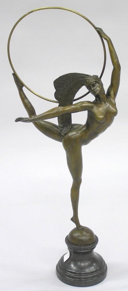 Bronzen Art Deco Beeldje